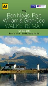 AA - Walker's Map 26 - Ben Nevis, Fort William & Glen Coe