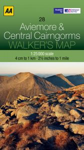 AA - Walker's Map 28 - Aviemore & Central Cairngorms
