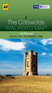 AA - Walker's Map 8 - The Cotswolds