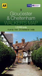 AA - Walker's Map 9 - Gloucester & Cheltenham