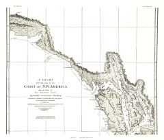 A Chart showing part of the Coast of NW America Side 2 - Published 1899 Map