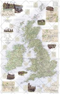 A Traveler's Map of Britain and Ireland - Published 2000 Map