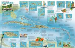 A Travelers' Map of the West Indies - Published 2003 Map