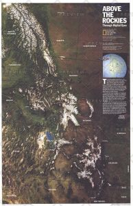 Above the Rockies  -  Published 1995 Map