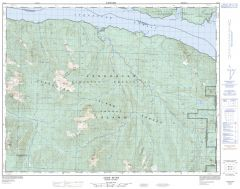 Adam River - 92 L/8 - British Columbia Map