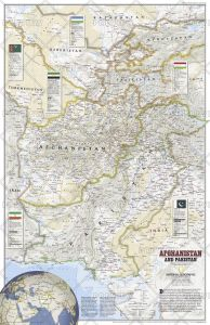 Afghanistan and Pakistan - Published 2001 Map