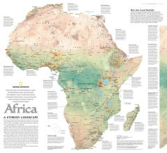 Africa, A Storied Landscape  -  Published 2005 Map