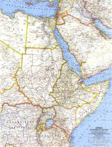 Africa, Countries of the Nile  -  Published 1963 Map