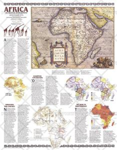 Africa, Its Political Development  -  Published 1980 Map