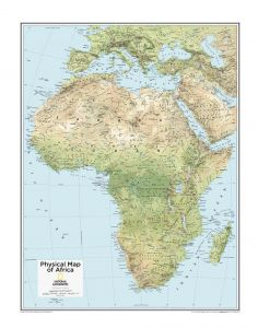 Africa Physical - Atlas of the World, 10th Edition Map