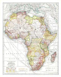 Africa - Published 1909 Map