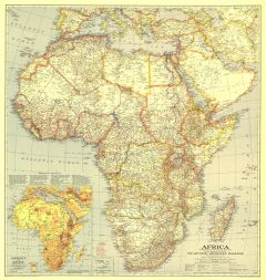 Africa  -  Published 1935 Map