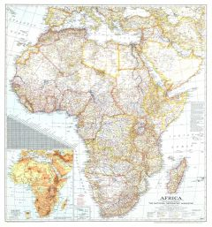 Africa  -  Published 1943 Map