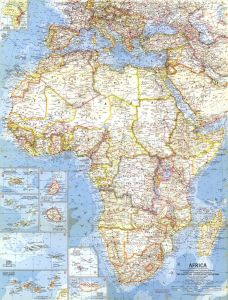 Africa  -  Published 1960 Map