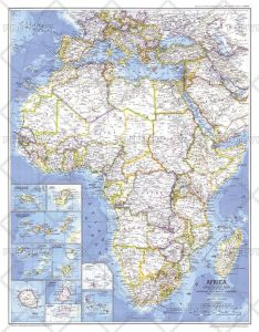 Africa  -  Published 1980 Map