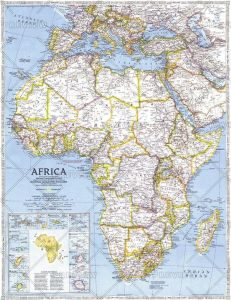 Africa  -  Published 1990 Map