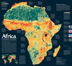 Africa, the Human Footprint  -  Published 2005 Map