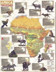 Africa Threatened  -  Published 1990 Map