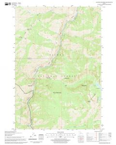 Aggipah Mountain Quadrangle, Idaho Map