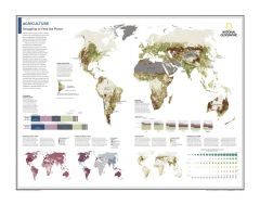Agriculture: Struggling to Feed the Planet - Atlas of the World, 10th Edition Map
