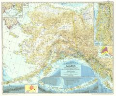 Alaska  -  Published 1956 Map