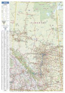Alberta Wall Map - Large Map