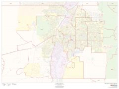 Albuquerque, New Mexico ZIP Codes Map