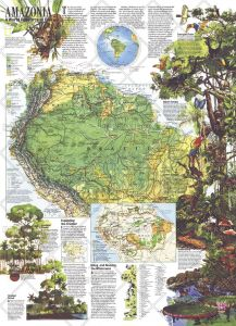 Amazonia, a World Resource At Risk  -  Published 1992 Map