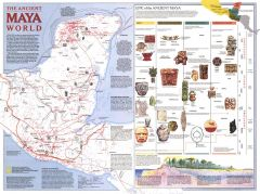 Ancient Maya World  -  Published 1989 Map