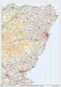 Angus & Aberdeenshire Postcode Sector Wall Map (S20) Map