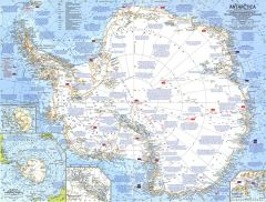 Antarctica  -  Published 1963 Map