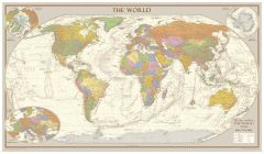 Antique Style World Map - Medium Map