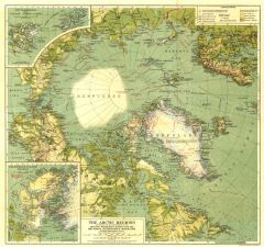 Arctic Regions - Published 1925 Map
