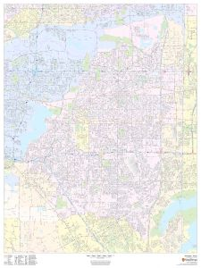 Arlington, Texas - Portrait Map