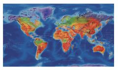Artistic World Wall Map - Large Map