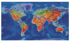 Artistic World Wall Map