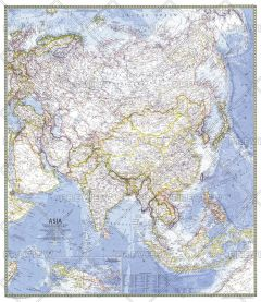 Asia  -  Published 1971 Map