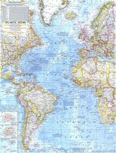 Atlantic Ocean  -  Published 1968 Map