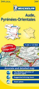 Michelin Local Map - 344-Aude, Pyrenees-Orientales