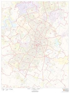 Austin, Texas ZIP Codes Map