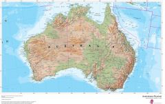 Australasia Physical Map