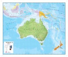 Australasia Political Wall Map