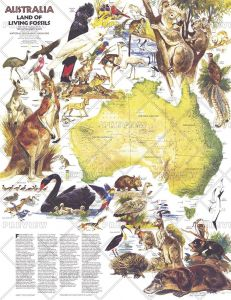 Australia, Land of Living Fossils  -  Published 1979 Map