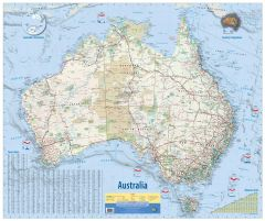 Australia Wall Map 2nd Edition Map