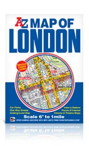 "A-Z Map Of London 6"" To 1 Mile"