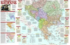Balkans Conflict  -  Published 2008 Map