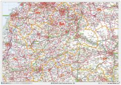 Bath - BA - Postcode Wall Map