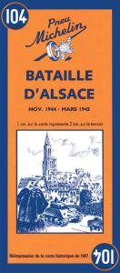 Michelin Historical Map - Battle Of Alsace (1944 - 1945)