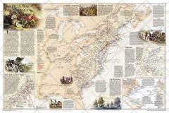 Battles of the Revolutionary War and War of 1812: Side 1 Map
