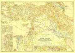 Bible Lands, and the Cradle of Western Civilization  -  Published 1938 Map